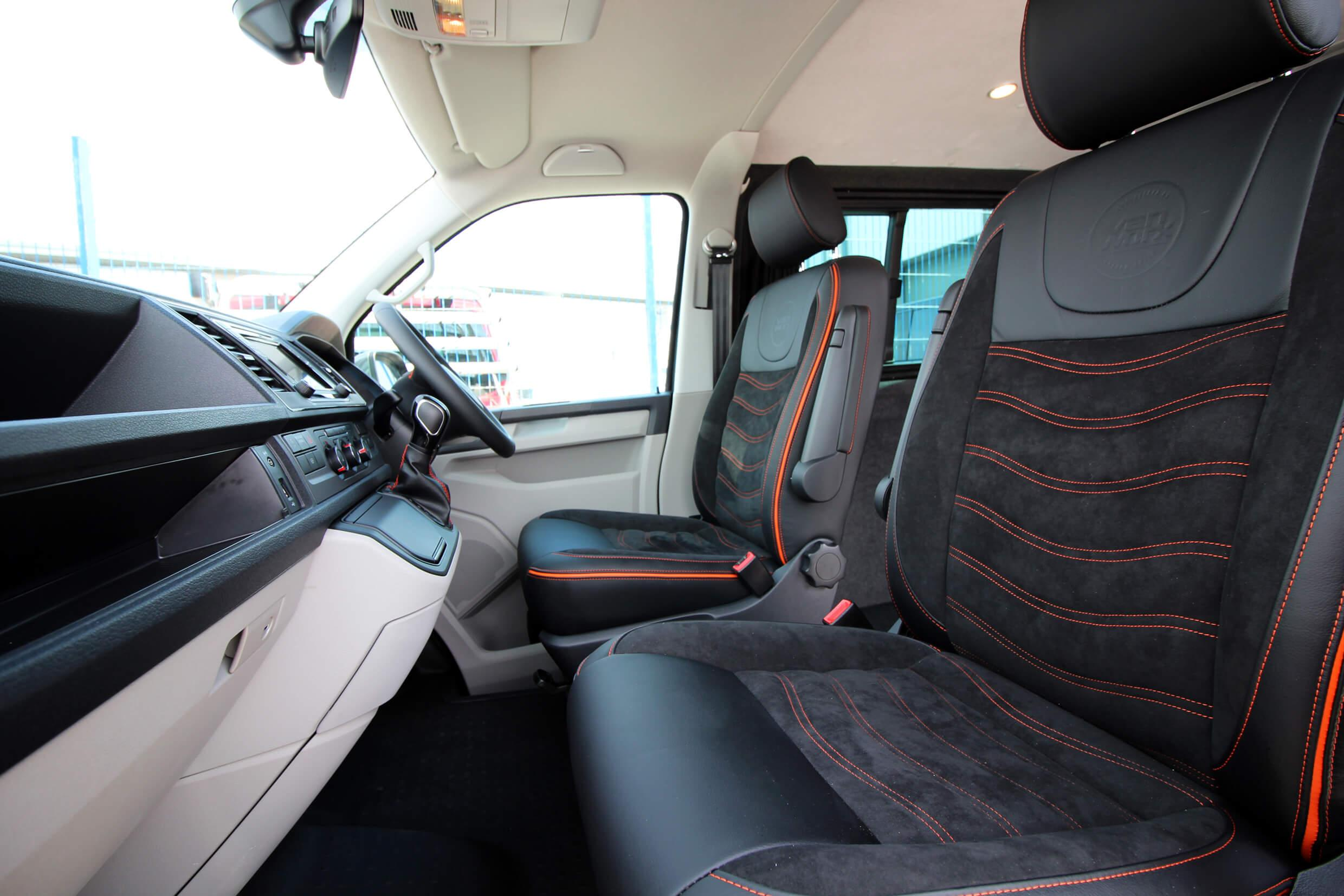VW leather crafted by hand for luxury finish in variety of colours